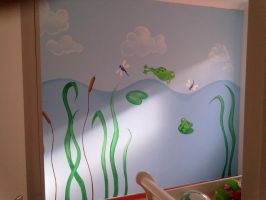 Frog themed bedroom Mural by JustinMain
