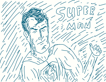 superman wacom by thedat