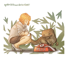 Claire and Rexy by spider999now