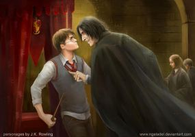 Harry and Snape by Ngaladel