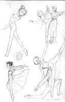 ballet sketches 1 by hbanana7