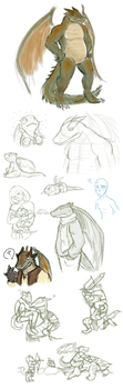 Woah messy doodles and stuff by teeny-pie-minion