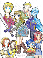 Legend of Zelda : Skyward Sword Gender Swapping by LadyOfCourage