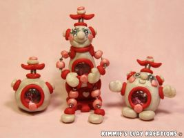 Polymer Clay Robots by KIMMIESCLAYKREATIONS