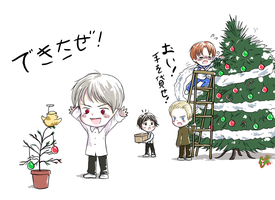 Setting up the tree by Oslogirl5