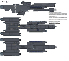 Eternal Thought Halo UNSC Frigate by AresXVIII