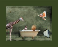 Bath time with friends by photoman356