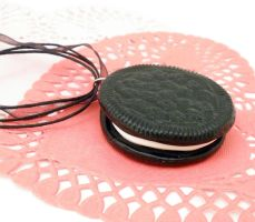 Oreo Cookie Necklace by ChibiWorks