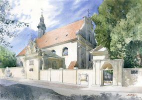 Post-reformation monastery complex in Kalisz by GreeGW
