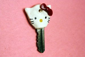 Hello Kitty Key Cap by Cat-The-Rawr