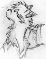 Lionblaze Sketch by Bast-The-Cat-Goddess