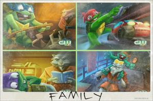 TMNT:: Turtle-tot Family by Culinary-Alchemist