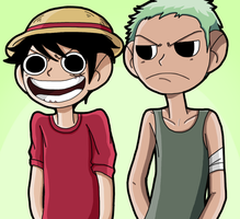 One Piece kids by Mayonaka-Zetsubo