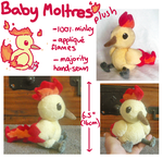Baby Moltres plush by SilkenCat