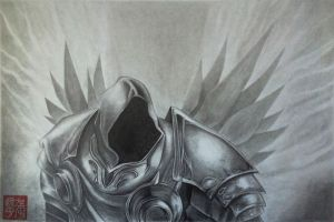 Diablo 3 Tyrael (quick sketch) by yipzhang5201314