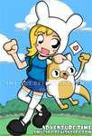 Adventure Time with Fionna and Cake by amy-art