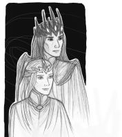 Melkor and Sauron by Lightning-W0lf
