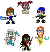 Chibi Outcased Girls by AleximusPrime