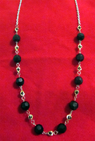 Black - Silver Chain Necklace by BloodRed-Orchid