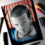 Eleven from Stranger Things - Drawing by LethalChris