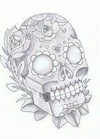 New skool skull Design Shadow by maikelj