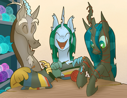 Commission: Knitting Time by Pixel-Prism