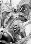 Ghost Rider and Moon Knight by Carl-Riley-Art