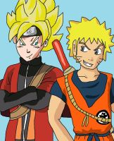 Goku and Naruto: Swap clothes by SuperSaiyanCrash