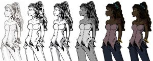 Commission Girl Full Bodies by eecomics