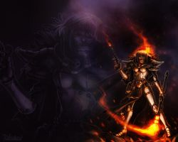 Holy Fire Desktop by Del-Borovic