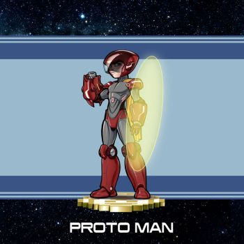MMRedesign: Proto Man by AdamWithers