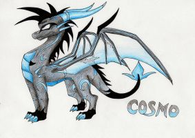 Cosmo the dragon by IcelectricSpyro