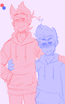 Tol Tord And Smol Tom by ZephyriaMutt