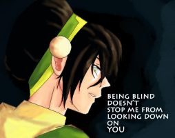 Bad-ass Toph by Cross-kun