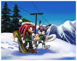 Commission: Knux and Kilphy by NetRaptor