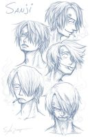 Sanji Faces by SybLaTortue