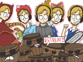 5 Pewdiepies vs The Barrels -CE- by 1WebRainbowe1