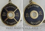 No Pain No Gain Olympic Barbell pendant amulet by TimforShade