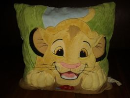 Disney Store Fluffy Simba Cushion! by Daniellee14