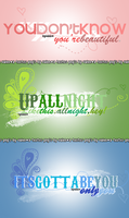 3 textos PNG's by valen by VAAALEN