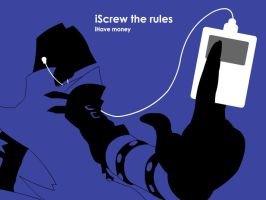 iScrew the rules by theskullkid