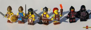 LEGO Skyrim Minifigs, set 1 by Saber-Scorpion