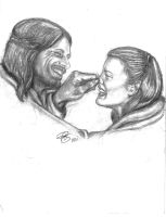 Cute as a button..Aragorn and Arwen by rstrider9