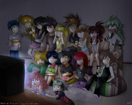 Pokespe -Movie Night- collab by firehorse6