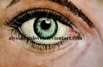Eye 2014 watercolor painting by AlyssaArtsLover