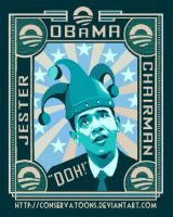 Obama: Jester and Chairman by Conservatoons