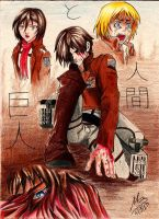 ATTACK ON TITAN by Shira-inochi