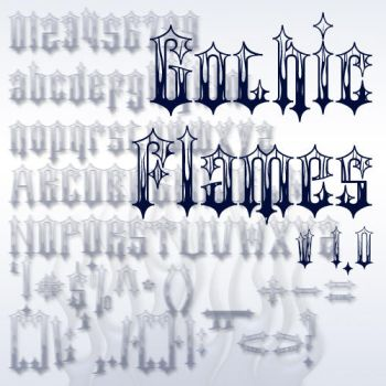Gothic Flames Font by jbensch