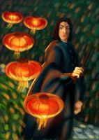 Snape and lanterns by WongHyo