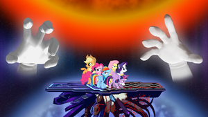 The Mane 6 vs. Master Hand and Crazy Hand by DashieMLPFiM